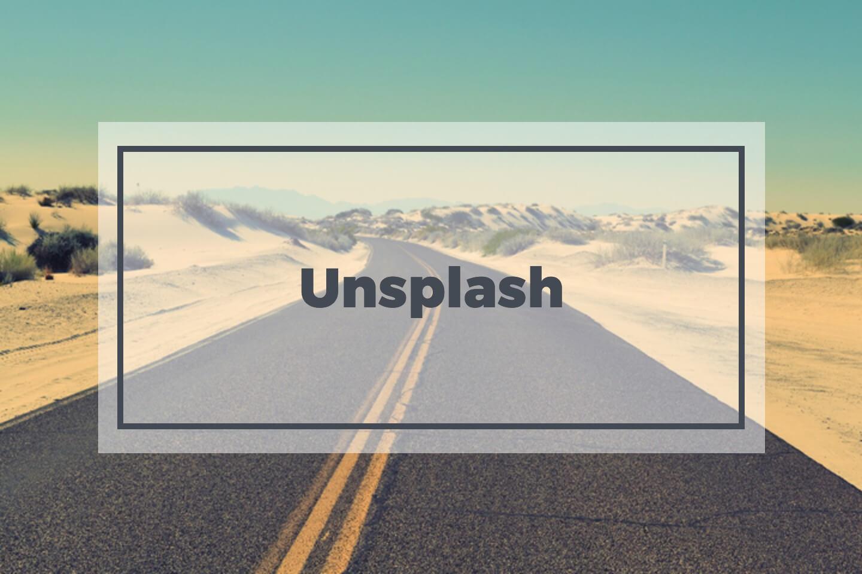 Unsplash website preview