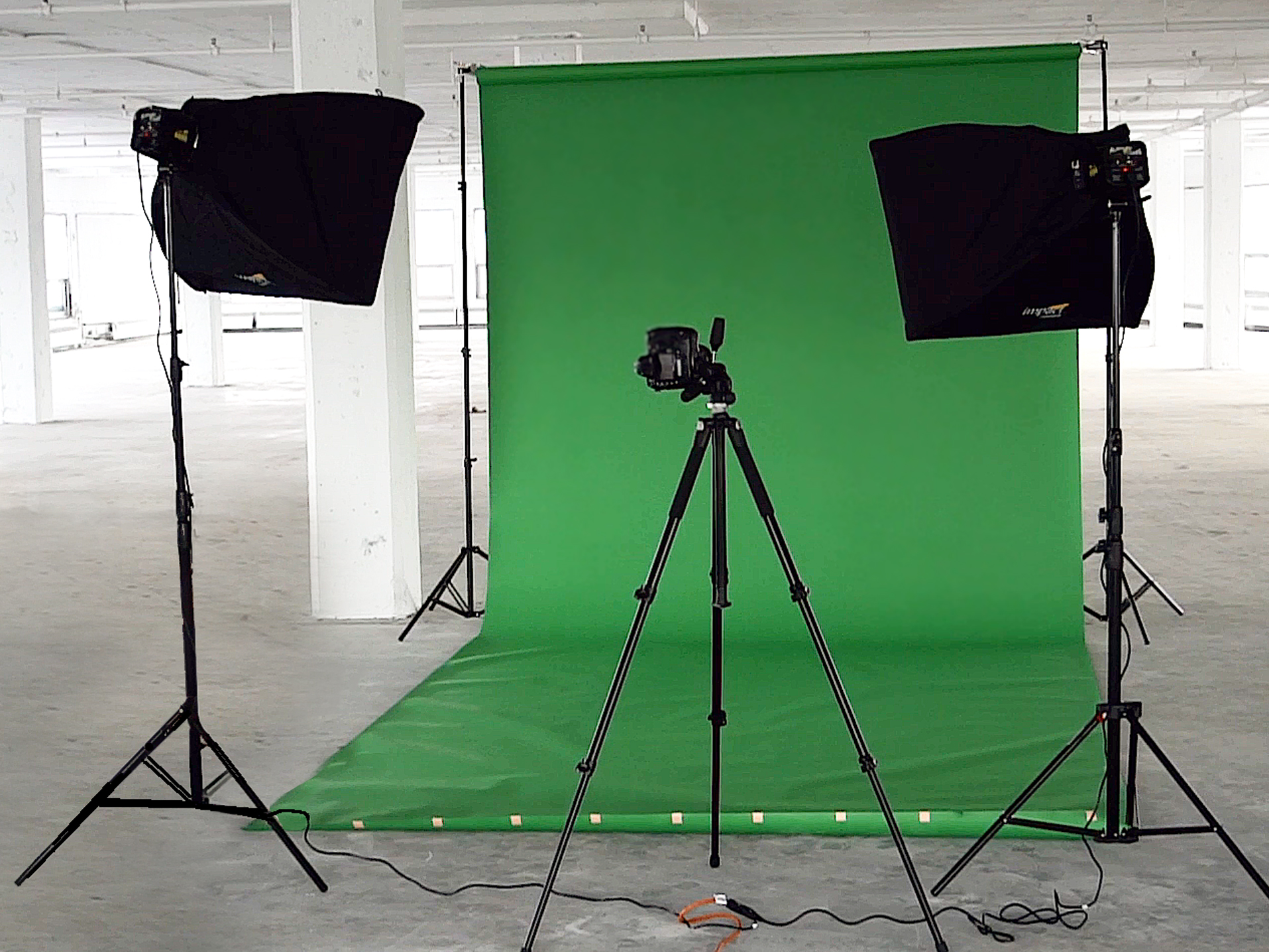Green Screen Setup in a Studio