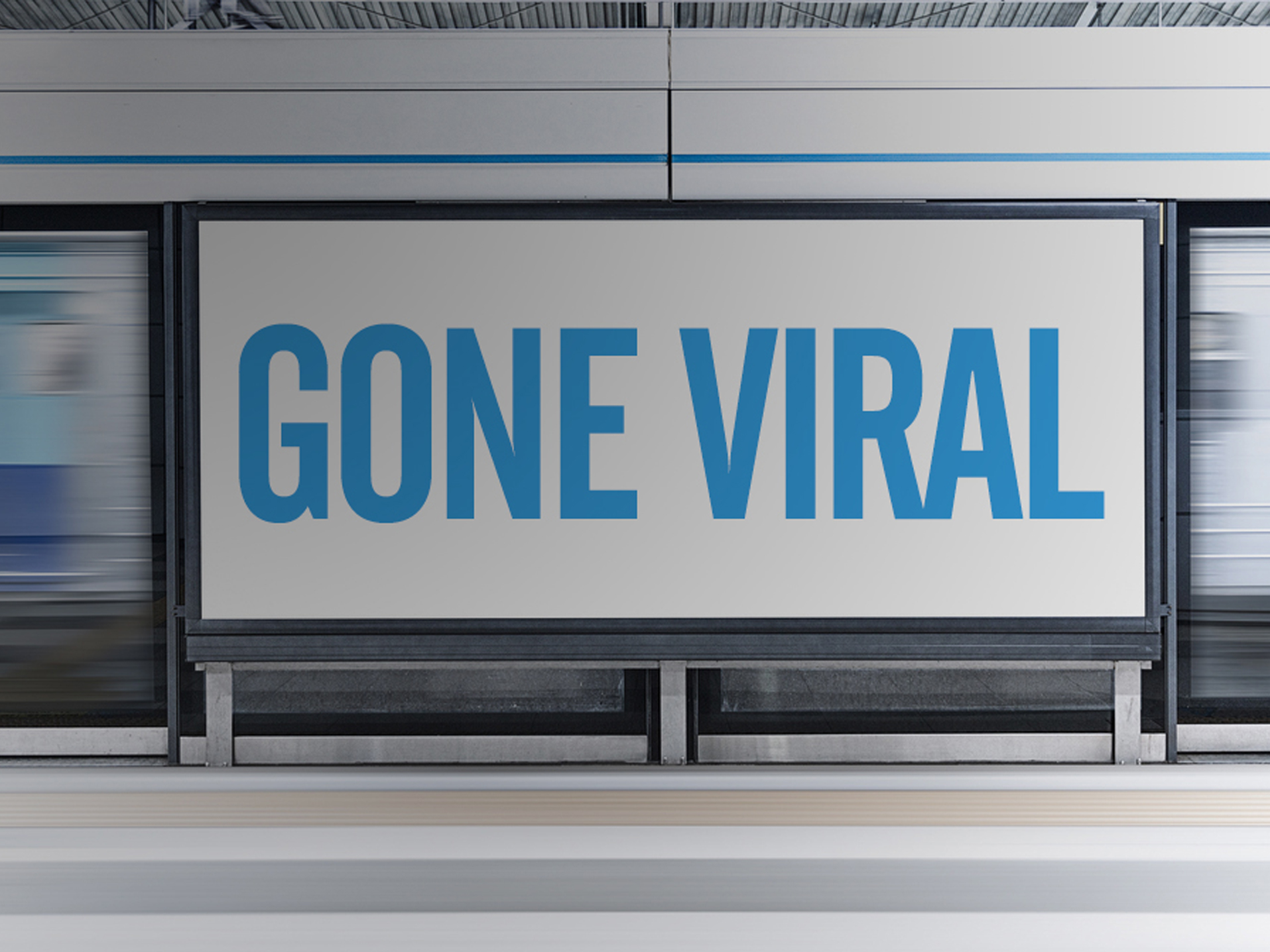 Gone viral ad in subway station