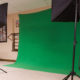 Green Screen Setup ready for a shooting