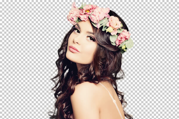 brunette-flowers-hair-green-screen-extraction