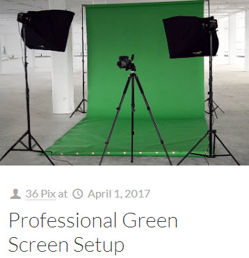 Blog: Professional Green Screen Setup