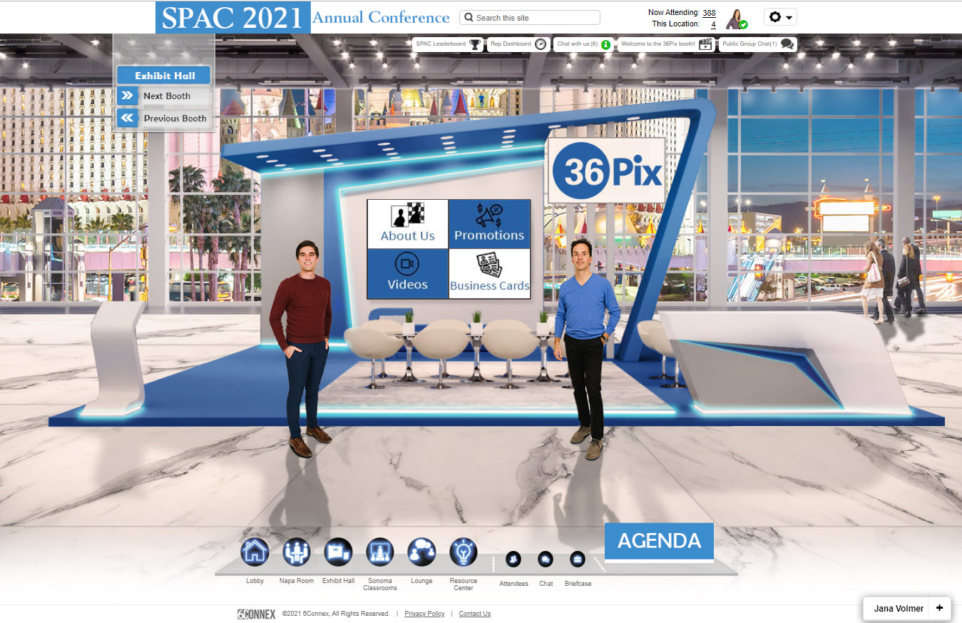 SPAC2021 virtual trade show booth 36Pix