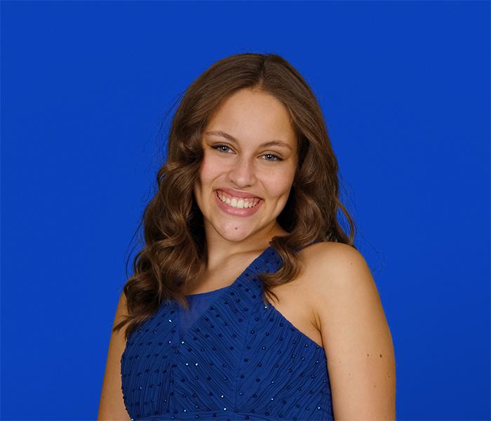 Blue Screen Prom Portrait