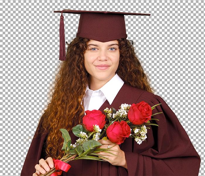Graduation Portrait - Green Screen Background Removal