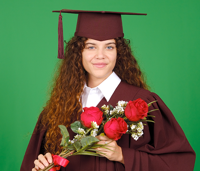 Green Screen Graduation Portrait